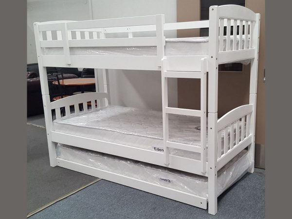maryl single bunk with pull out trundle white