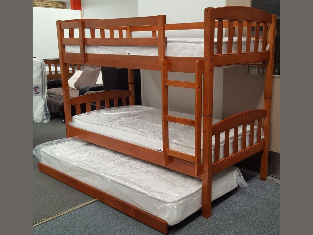 maryl single bunk with pull out trundle wood